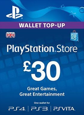 £30 PlayStation Network Pre Paid Digital Code
