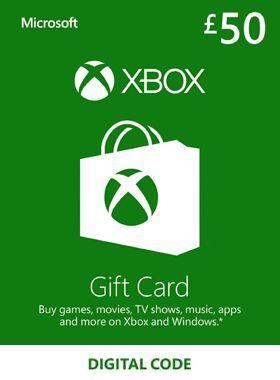 £50 Xbox Gift Card UK logo