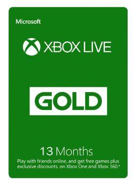 13 month xbox live gold membership