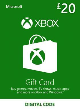 £20 Xbox Gift Card UK logo