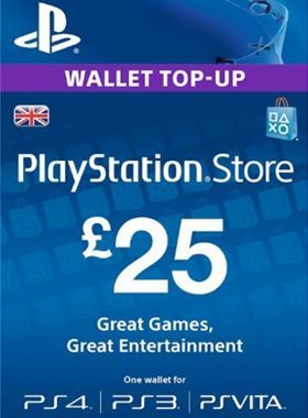 £25 PlayStation PSN Card UK logo