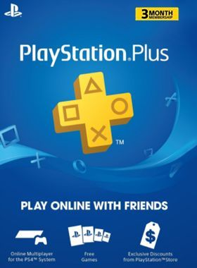3 Month PS Plus Membership US logo