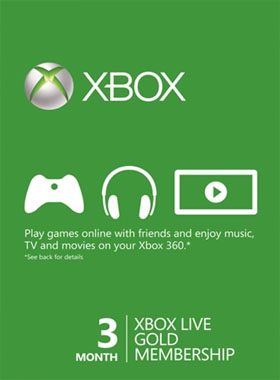 3 Month Xbox Live Gold Membership (VPN Activation)