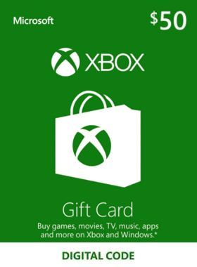$50 Xbox Gift Card US logo