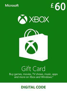 £60 Xbox Gift Card UK