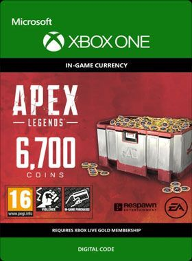 Apex Legends 6700 Coins Xbox One