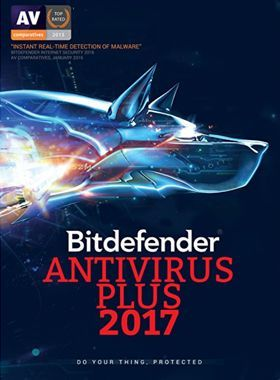 Bitdefender Antivirus Plus 2017 3 PCs 1 Year