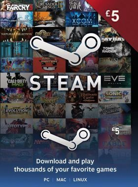 STEAM GIFT CARD £5 GBP UK logo