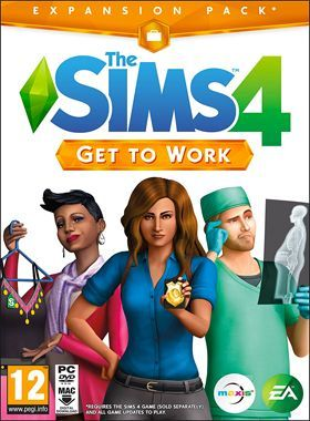 The Sims 4 Get To Work PC logo