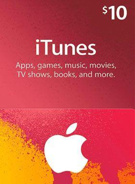 iTunes $10 USD Gift Code