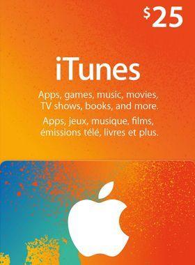iTunes $25 USD Gift Code