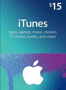 iTunes $15 USD Gift Code
