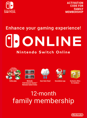 Nintendo Switch Online 12 Month Family Membership