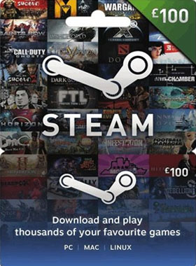 STEAM GIFT CARD £100 GBP UK