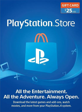 $25 PSN US Card