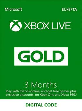 3 Month Xbox Live Gold Membership (EU/UK)