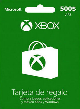 Xbox Gift Card Argentina 500 ARS