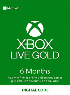6 Month Xbox Live Gold Membership EU/UK