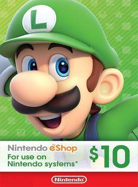 Nintendo eShop $10 Gift Cards