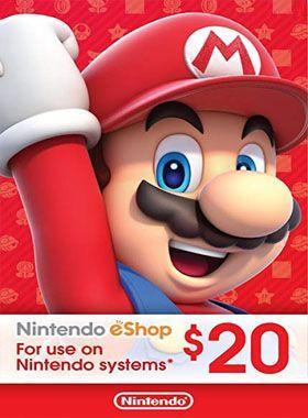 Nintendo eShop $20 Gift Cards