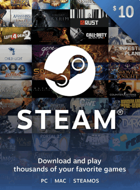 STEAM GIFT CARD $10 USD US