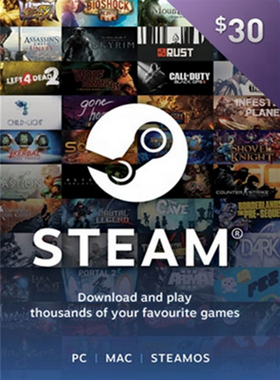 STEAM GIFT CARD $30 USD US