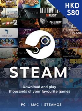 Steam Gift Card $80 HKD