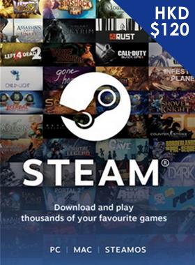 Steam Gift Card $120 HKD