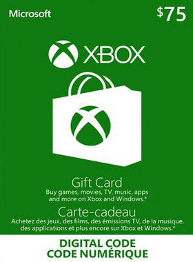 Xbox Gift Card Canada $75 CA