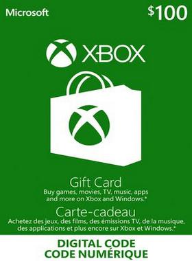 Xbox Gift Card Canada $100 CA