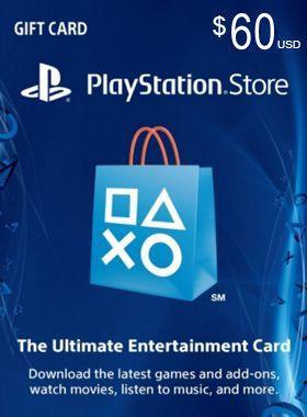 $60 PSN US Card