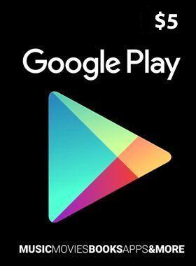 $5 Google Play Gift Card US