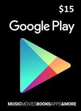 $15 Google Play Gift Code US