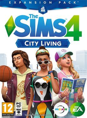 The Sims 4 City Living PC logo