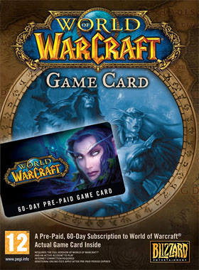 World Of Warcraft 60 Day Time Card EU / UK