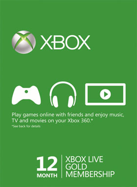 Xbox Live Gold 12 Month Brazil Region
