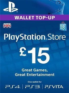 £15 PlayStation PSN Card UK logo